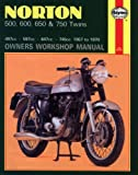 Norton 500, 600, 650 and 750 Twins Owners Workshop Manual, No. 187: '57-'70