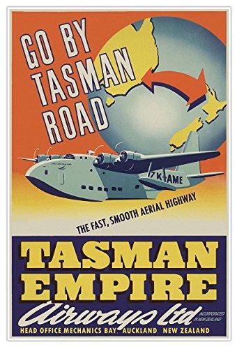 tasman-empire-airways-new-zealand-travel-print-measures-24-wide-x-36-high-610mm-wide-x-915mm-high