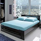 lit 140x190 avec sommier et matelas. Black Bedroom Furniture Sets. Home Design Ideas