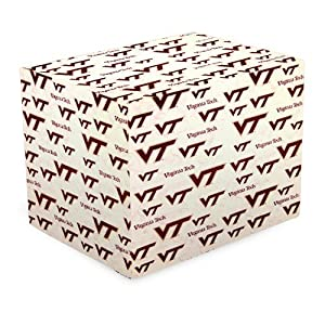 NCAA Virginia Tech Hokies White Gift Wrap Paper