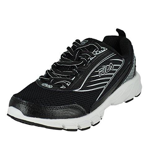 Fila Women's Forward 2-W Running Shoe, Black/Black/Metallic Silver, 11 M US