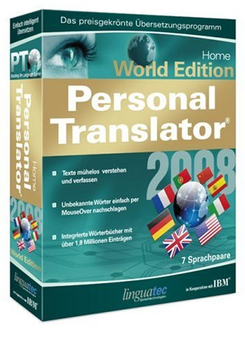 Personal Translator 2008 Home World Edition Multilingual