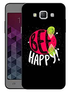"""Humor Gang Be Happy Bee Quote Printed Designer Mobile Back Cover For """"Samsung Galaxy j7"""" (3D, Matte, Premium Quality Snap On Case)"""