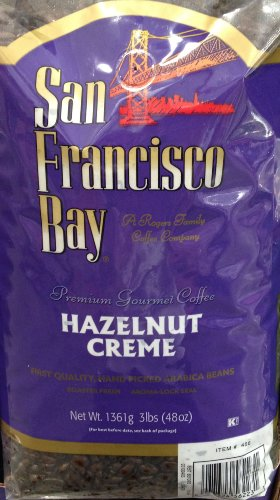 3 Pounds San Francisco Bay Hazelnut Crème Premium Gourmet Whole Bean Coffee First Quality Hand Picked Arabica Beans