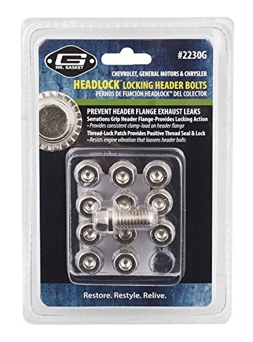 Mr. Gasket 2230G Headlock Locking Header Bolt, (Set of 12) (85 Camaro Headers compare prices)