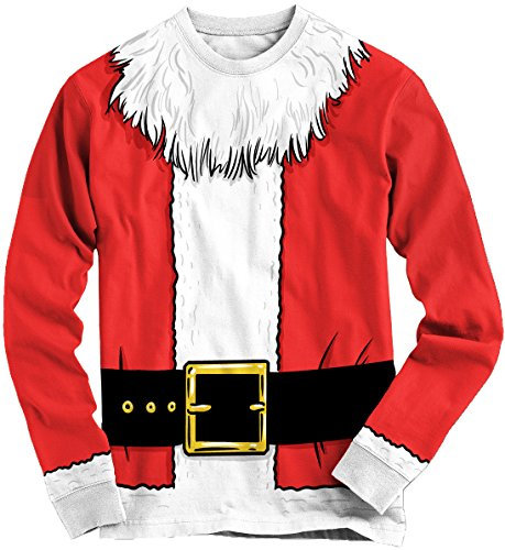 Santa Suit LONG SLEEVE Ugly Christmas Sweater Funny Full Print Shirt