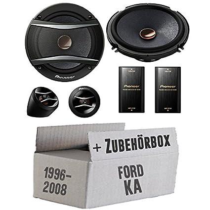 Ford KA Front - Pioneer TS-A173Ci 2-Wege 16cm Lautsprecher System - Einbauset