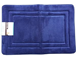"Novafoam Luxurious Comfort Memory Foam BathMat 7/8 in THICK 36""x24"" Made by Sleep Innovations (Sapphire)"