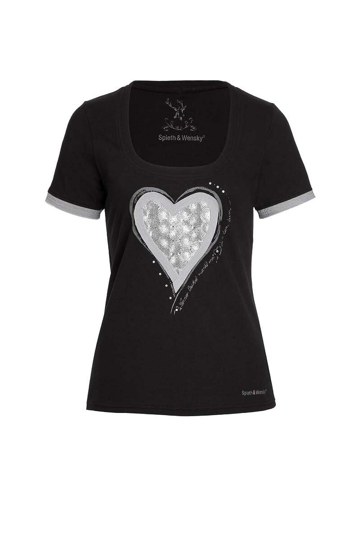 Spieth & Wensky Damen T-Shirt Avelina 2033 schwarz günstig online kaufen