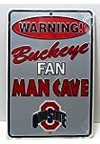 Ohio State Buckeyes Man Cave Sign Gift NCAA Football OSU 8x12 Dorm Room