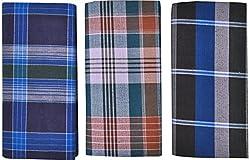 SRS Men Cotton Lungi Combo of 3 (Multi-Coloured, 48 cm)