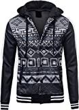Wantdo Men's Fashion Faux Jackets Pu Leather Jackets With Removable Hood With Gift URBAN K MENS BANDANA FAUX