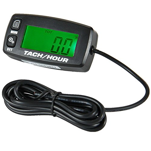 Searon Backlit Digital Resettable Inductive Tacho Hour Meter Tachometer For Motorcycle Marine Boat ATV Snowmobile Generator Mower (Tiny Tots Mobile compare prices)
