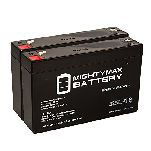 Ride On Replacement 6V 7AH Battery For Kids Ride On Power Car Wheels - 2 Pack - Mighty Max Battery brand product (Kids Power Tools Car compare prices)