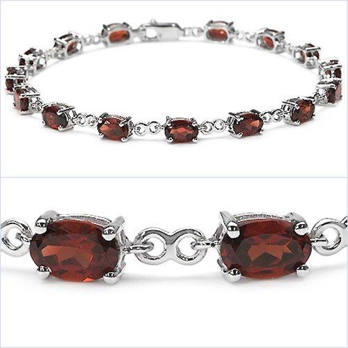 Jewelry-Schmidt-Charming Garnet Bracelet 925 Silver-9, 75 carats