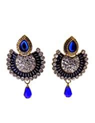 Aabhushan Jewels American Diamond/CZ Multicolor Stone Look Gold Plated Earrings For Women
