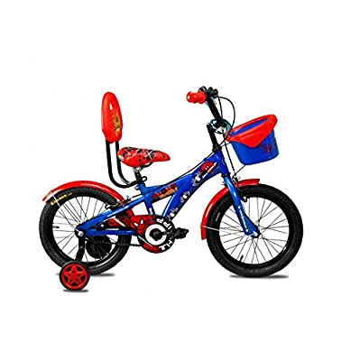 Marvel Ultimate Spiderman Junior Cycle with Carrier- Blue - 16T