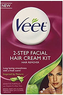 Veet Facial Hair Remover Cream Kit, 3.38 Ounce
