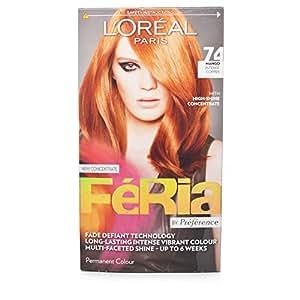 Féria Hair Colour from L'Oréal Paris (74 Mango-Intense Copper)