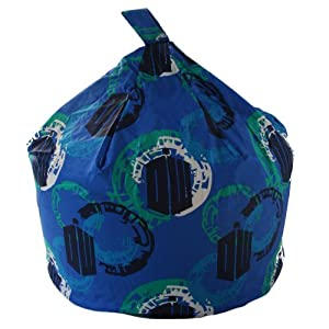 Dr Doctor Who Tardis Time Traveller Blue Bean Bag with Beans
