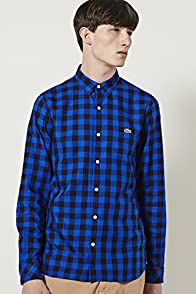 L!ve Long Sleeve Twill Gingham Woven Shirt