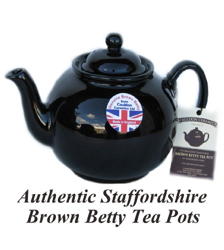 Brown Betty 8 Cup Tea Pot - Look for Original Staffordshire Brown Betty Embossed on base... by