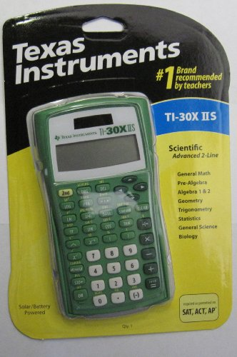 TEXAS INSTRUMENTS TI-30XIIS Handheld Scientific Calculator, Lime Popsicle
