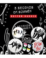 5 Seconds of Summer New 6 x Badge Pack Set