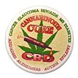 CBD Cannabinoids Cure Cannabis/Marijuana on Pinback Button