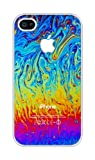 Colorful Abstract RUBBER iphone 4 case - Fits iphone 4, 4S AT&T, Sprint, Verizon