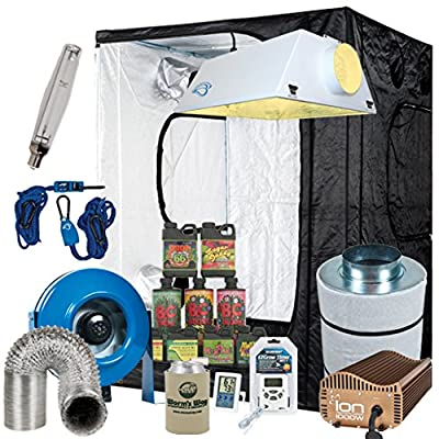 Complete 5 x 5 Grow Tent Package w/ 1000W Sealed HPS HID, Filter, Fan and more by Worm's Way