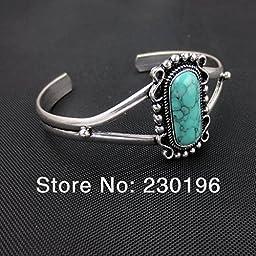 New Statement Jewelry Beautiful Bella Swan Turquoise Silver Twilight Bangle Movie Jewelry 2pcs/lot