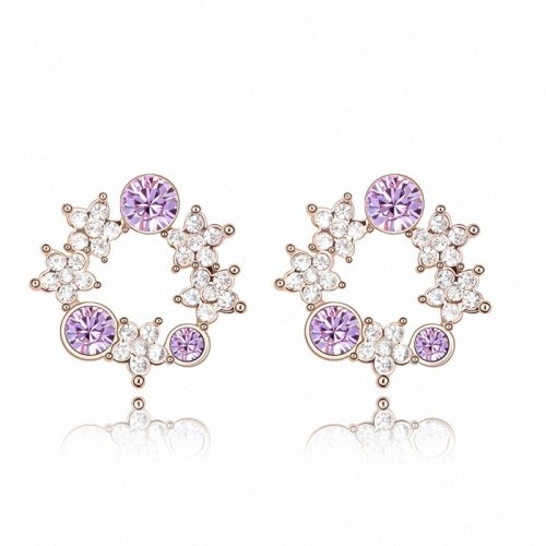 TAOTAOHAS- [ Search Name: Warm Spring ] (1PAIR) Crystallized Swarovski Elements Austria Crystal Earrings, Made of Alloy Plated with 18K True Platinum / White Gold and Czech Rhinestone