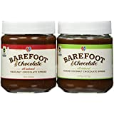 Barefoot & Chocolate - Chocolate Almond Coconut and Hazelnut Chocolate Spread - 2 Jar Pack (9.75oz Almond & 10oz Hazelnut)