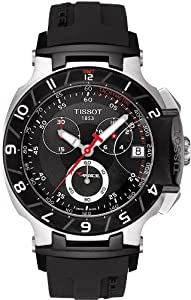 Tissot Men's T0484172705100 T-Race Black Chronograph Dial Watch from Tissot