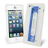 Celicious White Retro Cassette Tape Silicone Skin Case for Apple iPhone 5s / iPhone 5 Apple iPhone 5s Case Cover