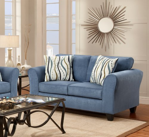 Roundhill Furniture Microfiber Sofa And Loveseat Set With