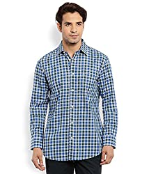 Colorplus Men's Casual Shirt (8907397519752_CMSS25792-B7_Small_Dark Blue)