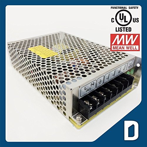Dc 12V 8A 96W Output Enclosed Switching Power Supply - Ul Listed - Ac100 To 240V Input - Transformer / Driver / Adapter / Electricity Converter For Led Light Strip Cord Ribbon Rope Module Dmx Electronic Regulated Dc Electric Source Indoor