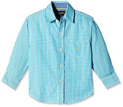 Nautica Kids Boys' Shirt (N274269Q426_Turquoise_3 - 4 years)