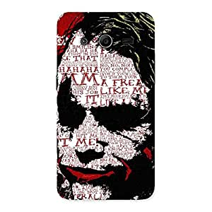 Gorgeous Insane Writing Back Case Cover for Galaxy Core 2