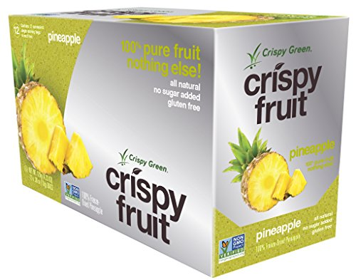 Crispy Green 100% All Natural Freeze-Dried Fruits, Pineapple, 0.36 Ounce (12 Count) (Pineapple Dried Fruit compare prices)