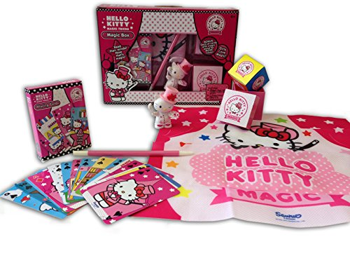 Hello Kitty Magic Box Trick Set with Mind Reading, Wand and Collectible Figurine