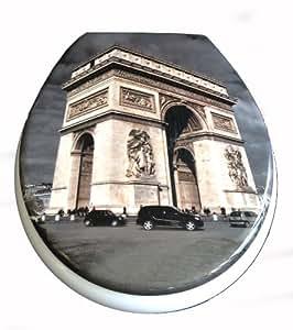 """Siège toilette duroplast modèle Paris"""" avec abattant automatique amovible pour le nettoyage (soft close, descente progression)"""