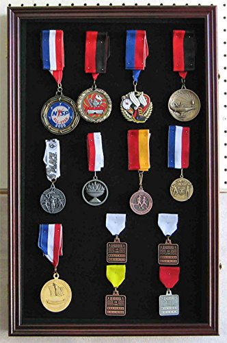 LARGE Pin Display Case Shadow Box Flag Display Case, with Glass Door, PC04-CH (Large Shadow Boxes compare prices)