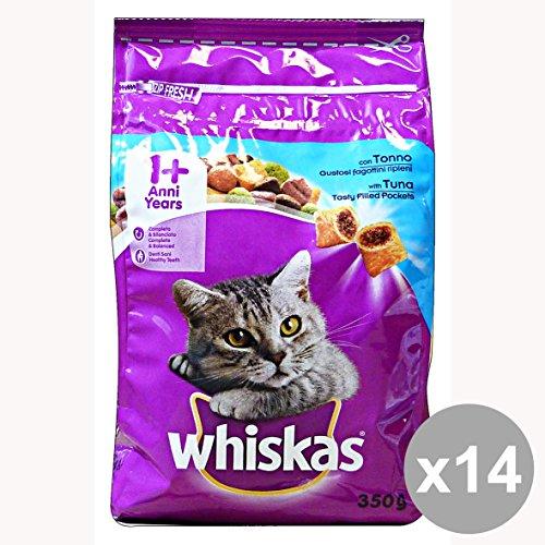 set-14-whiskas-350-gr-secco-tonno-fagottini-riparazione-ieni-cibo-per-gatti