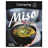 Clearspring Organic Miso Instant Soup & Sea Vegetable (4 per pack - 40g)