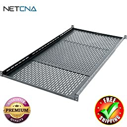 VSA-1626 Adjustable Telescoping Rack Shelf With Free 3 Feet NETCNA HDMI Cable - BY NETCNA