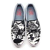 竜図 和柄生地 8柄 スリッポン和柄スニーカー/靴/1602PFZ01SP--8京都百景--25cm