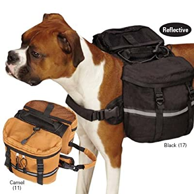 Zack & Zoey Cotton Duck Day Tripper Dog Backpack, Medium, Black